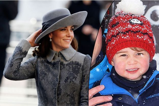 La duchesse Catherine de Cambridge à Westminster le 14 mars 2016. Son fils prince George dans les Alpes françaises, photo dévoilée le 3 mars 2016