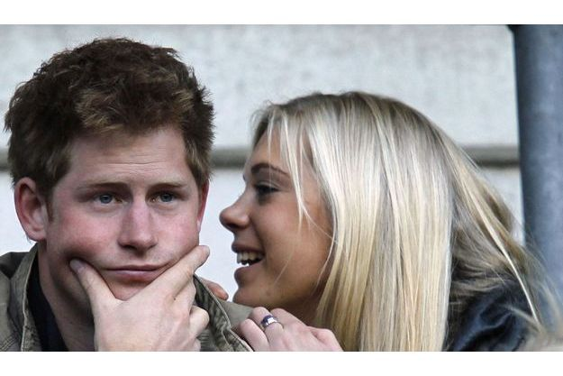 Le prince Harry et Chelsy Davy.