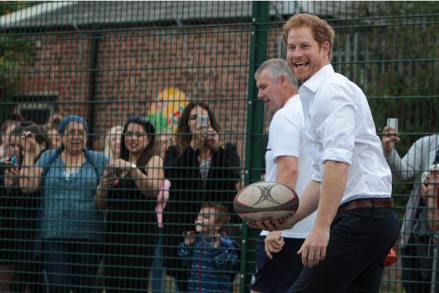 Le prince Harry à Stockport, le 21 juin 2016