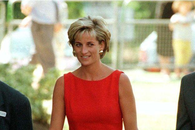 La princesse Diana, lors de sa visite au Northwick Park Hospital de Londres, le 21 juillet 1997