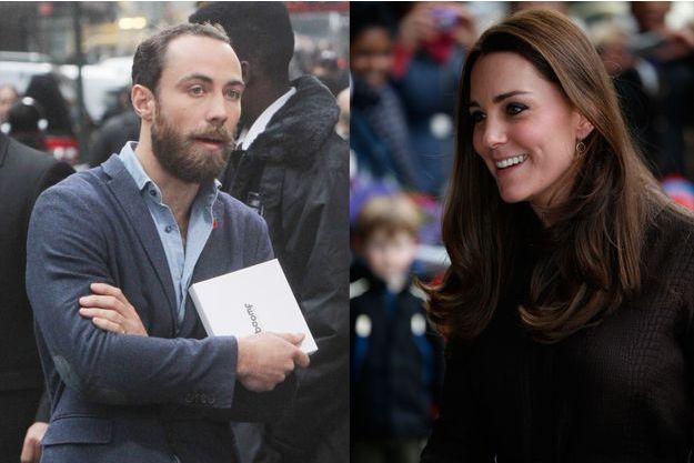 James Middleton à New York, le 13 novembre 2014 - Kate ex-Middleton à Londres, le 16 janvier 2015