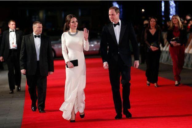 Kate et William arrivent, jeudi soir, à la première du film «Mandela: Long Walk To Freedom».