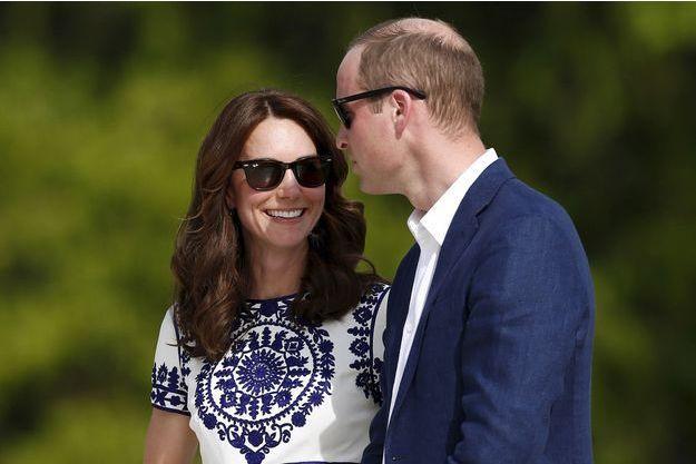 Le prince William et la duchesse Catherine de Cambridge, le 16 avril 2016
