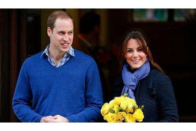 William et Kate à la sortie de l'hôpital en décembre.