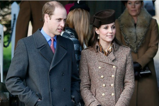 Kate et le prince William à Sandringham, le 25 décembre 2015