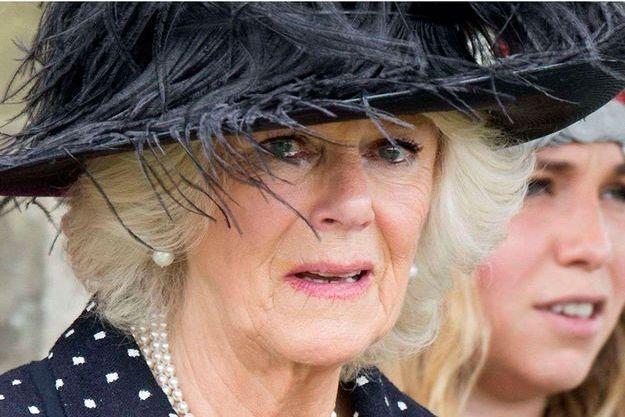 La duchesse de Cornouailles aux funérailles de son frère, jeudi dernier.