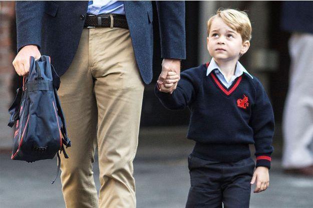 Le prince George lors de sa rentrée à l'école en septembre dernier.