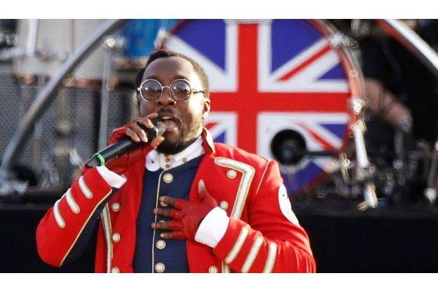 Le chanteur américain Will. I. Am lors du concert en l'honneur de la reine