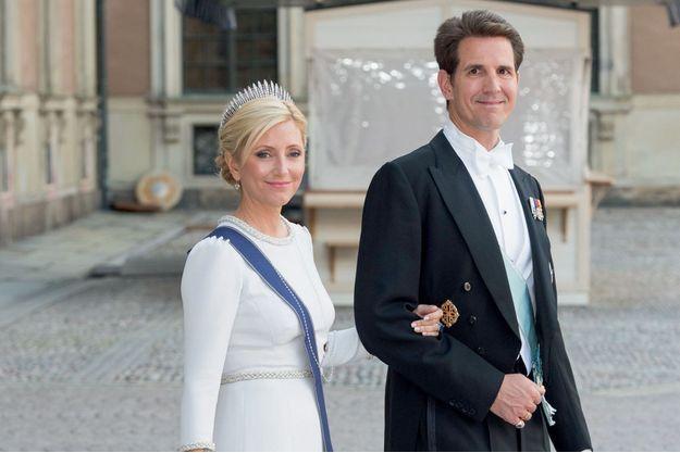 Marie-Chantal de Grèce et son mari, le prince Pavlos, héritier du trône de Grèce.