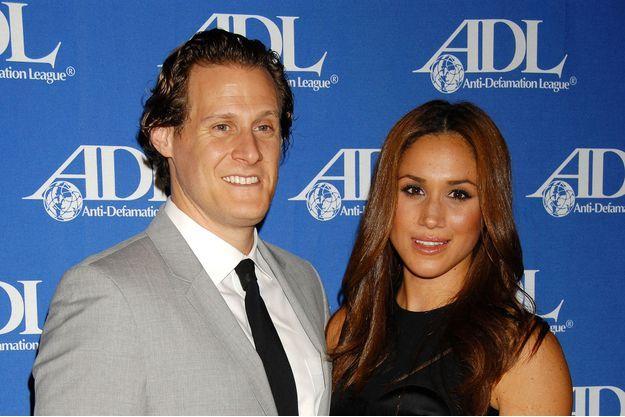 Meghan Markle son premier époux Trevor Engelson à Los Angeles, le 11 octobre 2011.