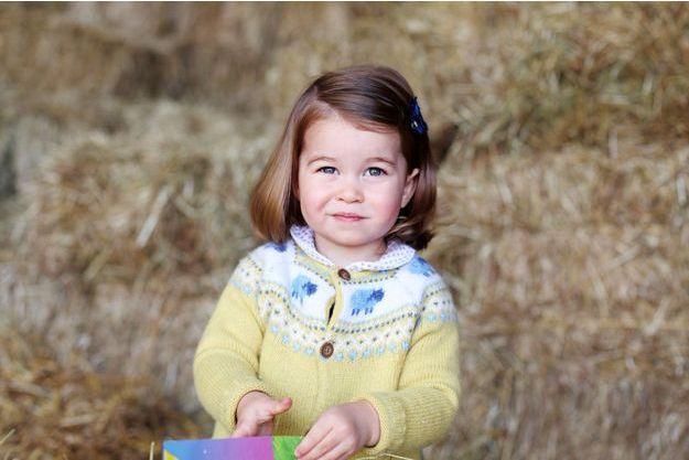La petite princesse Charlotte sur une photo prise par sa mère Kate Middleton.
