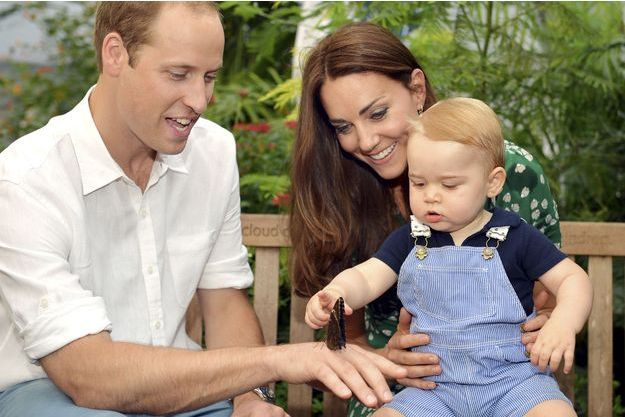 Kate et William avec le prince George, pour son premier anniversaire, le 22 juillet dernier.