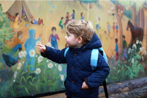 Le prince George pour son premier jour d'école le 6 janvier 2016