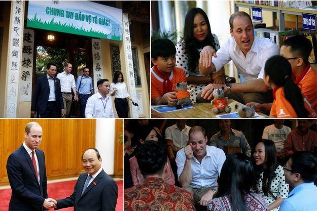 Le prince William à Hanoï, le 16 novembre 2016. En bas à gauche, avec le Premier ministre vietnamien Nguyên Xuân Phuc