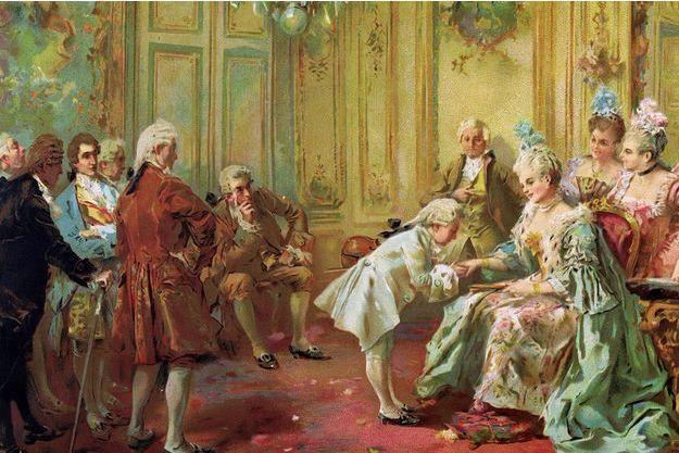 Le jeune Wolfgang Mozart chez Madame de Pompadour, par Vicente Garcia de Paredes (détail)