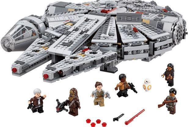 Le millenium Falcon en legos : 164 euros 99.