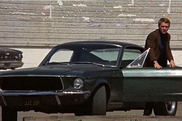 Steve McQueen et sa Mustang dans « Bullitt » (1968).