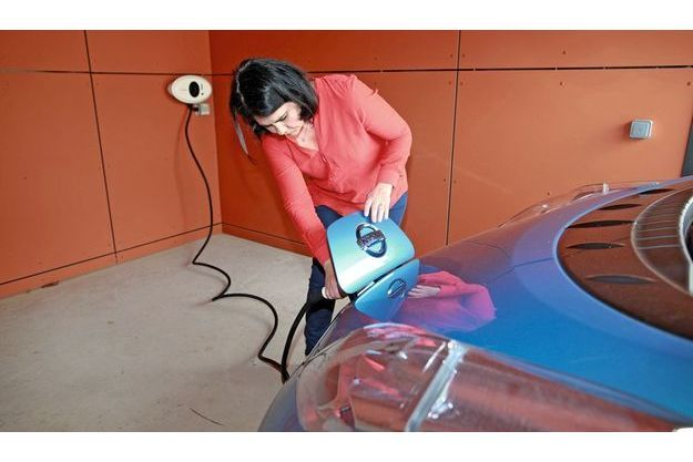 La station de chargement pour la Nissan Leaf  100% électrique.
