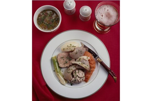Le menu préféré de Jacques Chirac: tête de veau arrosée à la bière.