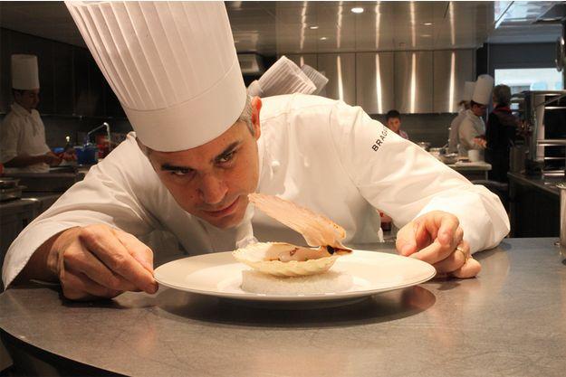 Benoît Violier à Crissier dans son restaurant trois étoiles.