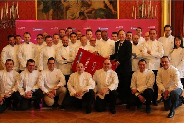 Les chefs étoilés en 2015 par le guide Michelin.