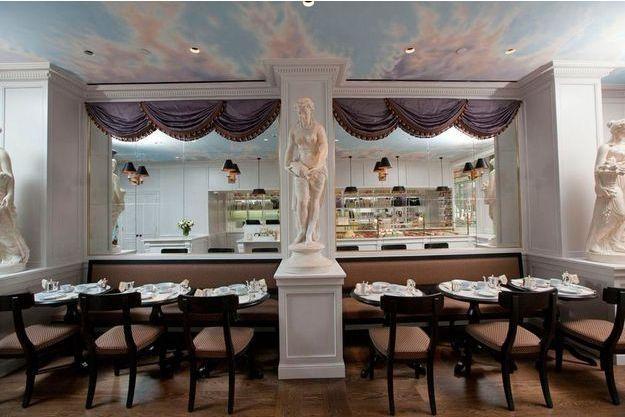 Le salon de thé Ladurée, 398 West Broadway à New York.