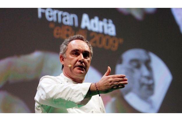 Ferran Adrià, lors de la Madrid Fusion mardi dernier.