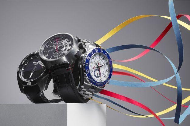 Louis Vuitton, Rolex et Tissot, les montres tendances de cette Saint-Valentin.