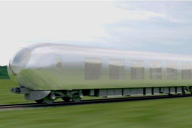 Le futur train de la compagnie Seibu Railway, dessiné par l'architecte Kazuyo Sejima.