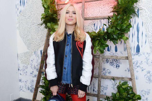 Camille Seydoux à la boutique Roger Vivier à New York