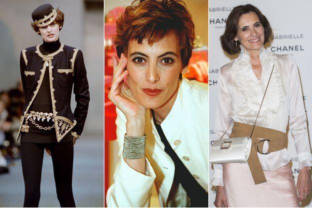 Ines de la Fressange en 1989, 1997 et 2017.