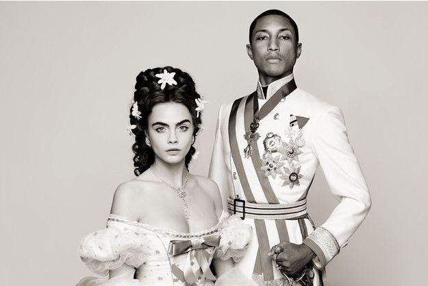 Pharrell Williams et Cara Delevingne dans une fiction historique dans l'empire Austro- Hongrois, par Karl Lagerfeld