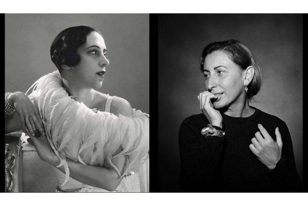 Les portraits d'Elsa Schiaparelli et Miuccia Prada