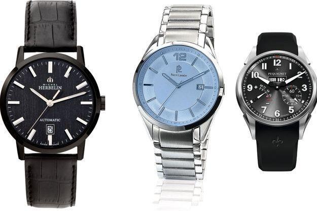 Les montres de chez Michel Herbelin, Pierre Lannier, et Pequignet.