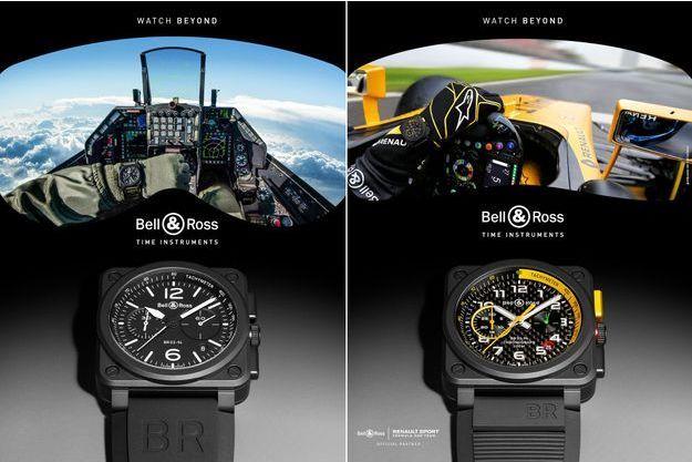 Avion de chasse et F1 : Bell & Ross mise sur la vitesse.