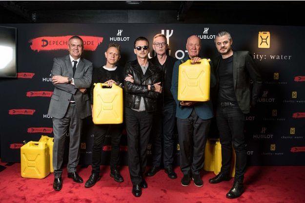 Ricardo Guadalupe, les trois Depeche Mode, Jean-Claude Biver et Scott Harrison.