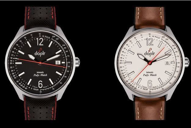La pulse-watch en noir et en blanc.