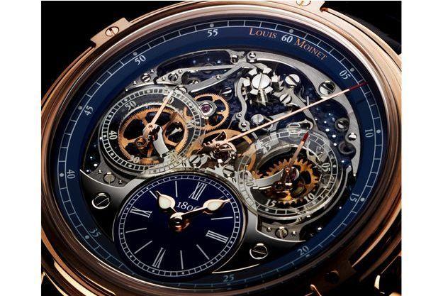 Les mécanismes d'une montre Louis Moinet.