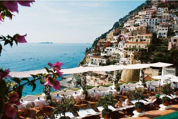 La sublime terrasse de l'hôtel Le Sirenuse