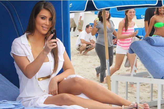 Kim Kardashian, l'une des stars de Miami Beach.