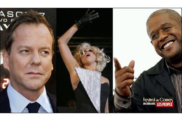 Kiefer Sutherland, Lady GaGa et Forest Whitaker
