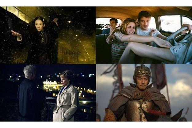 """De haut en bas et de gauche à droite, """"Cosmopolis"""", """"The Burial"""", """"The Grandmasters"""" et """"Holly Motors""""."""