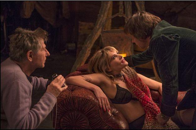 Roman Polanski, Emmanuelle Seigner et Mathieu Amalric.