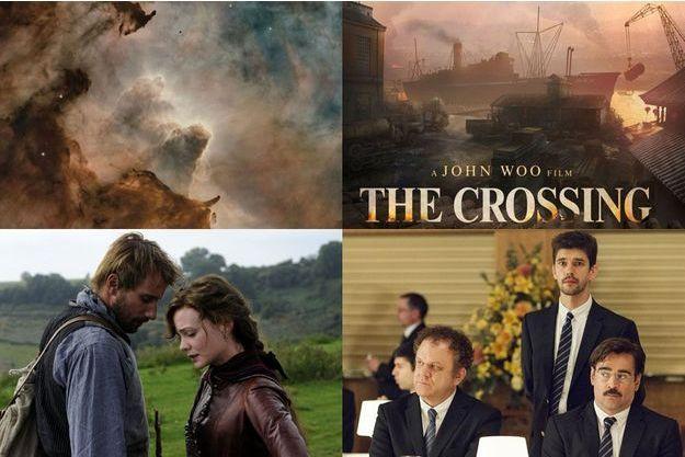 """De haut en bas et de gauche à droite, """"Voyage of Time"""", """"Far from the Madding Crow"""", """"The Crossing"""" et """"The Lobster""""."""