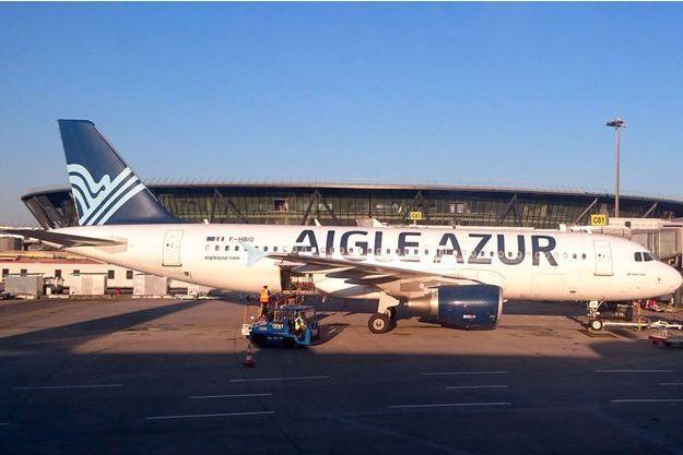 Un appareil d'Aigle Azur à Lyon, en juillet 2016.