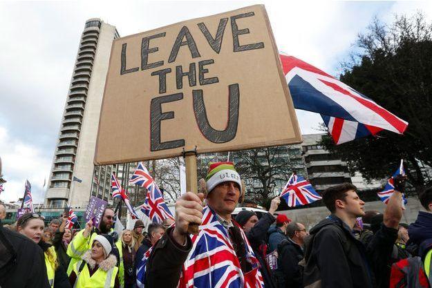 Manifestation pro-Brexit à Londres, en décembre.