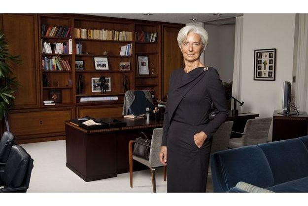 Christine Lagarde dans son bureau à Washington.