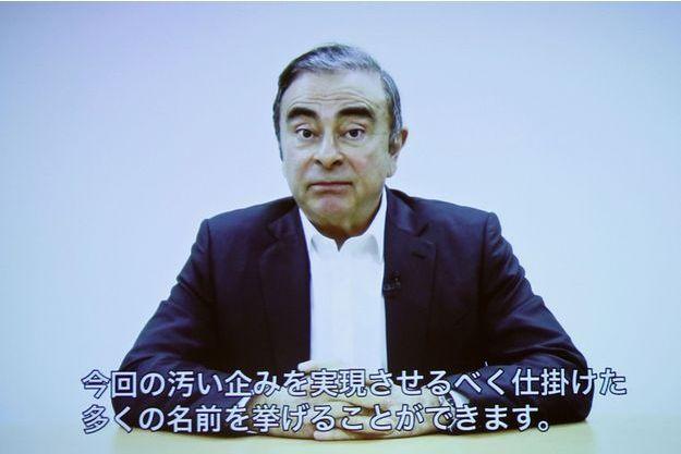 Carlos Ghosn a enregistré une vidéo affirmant être innocent.