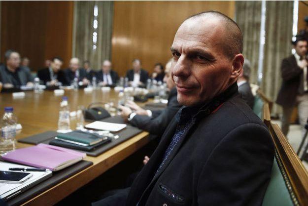 Yanis Varoufakis, ministre des Finances, mercredi, lors de la première réunion du gouvernement d'Alexis Tsipras.