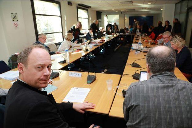 Photo d'illustration prise lors d'une négociation des partenaires sociaux sur l'assurance chômage.